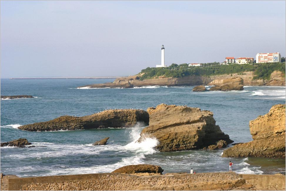 Biarritz - Blick auf den Leuchtturm
