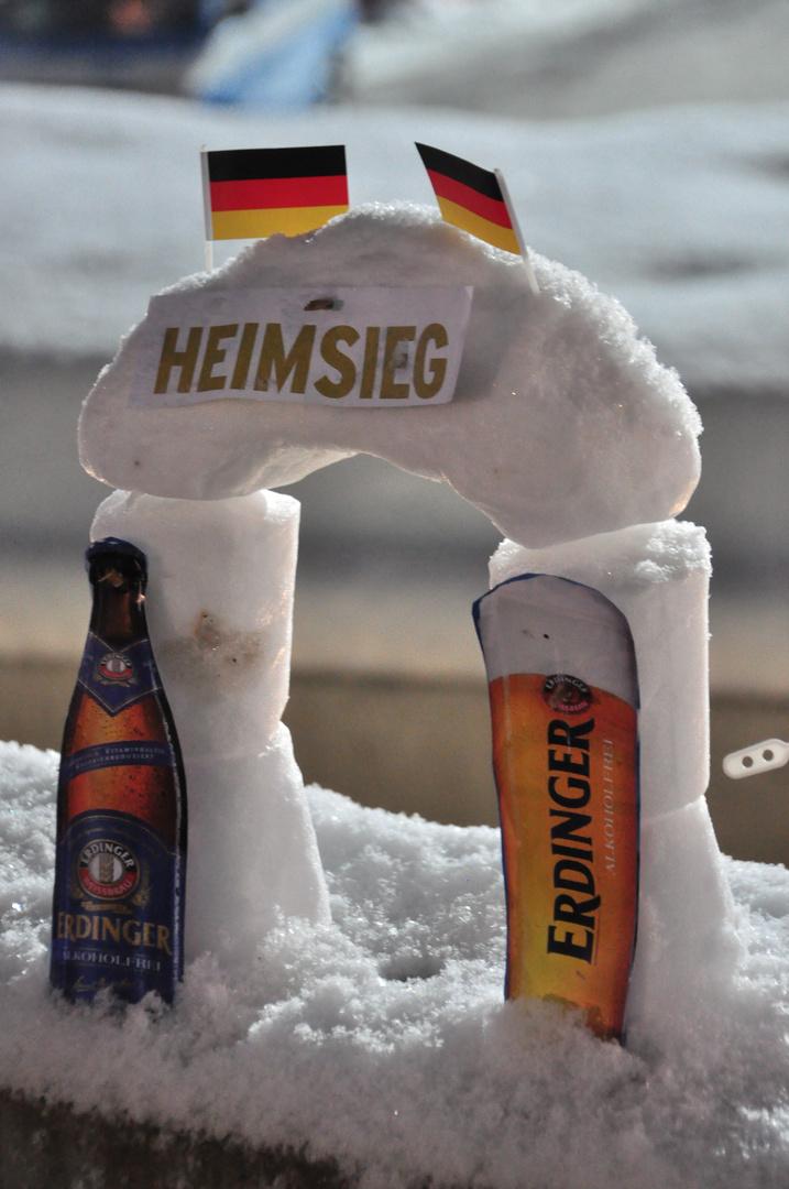 Biathlonschneemann
