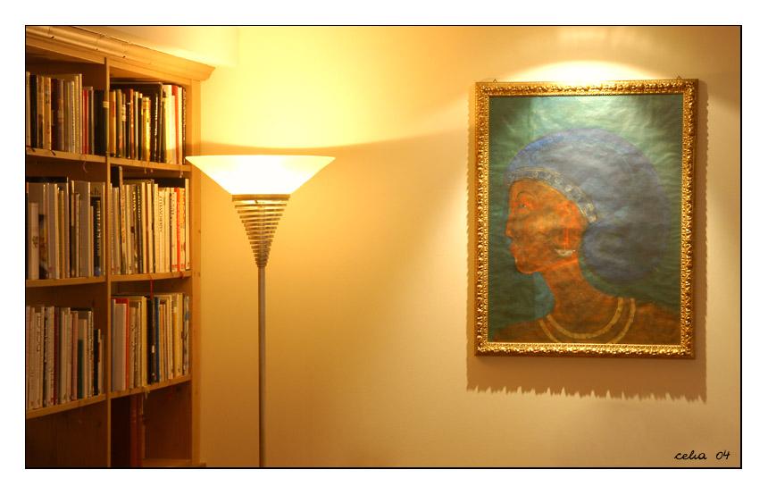 Bibliothek mit Bild