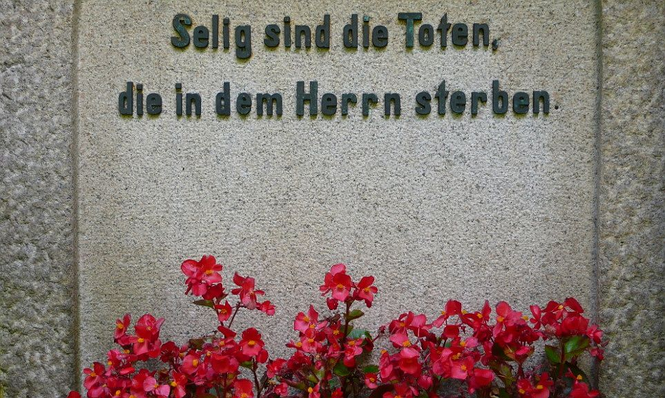 biblischer Grabspruch (Friedhof Ohlsdorf)