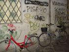 biciclette appoggiate
