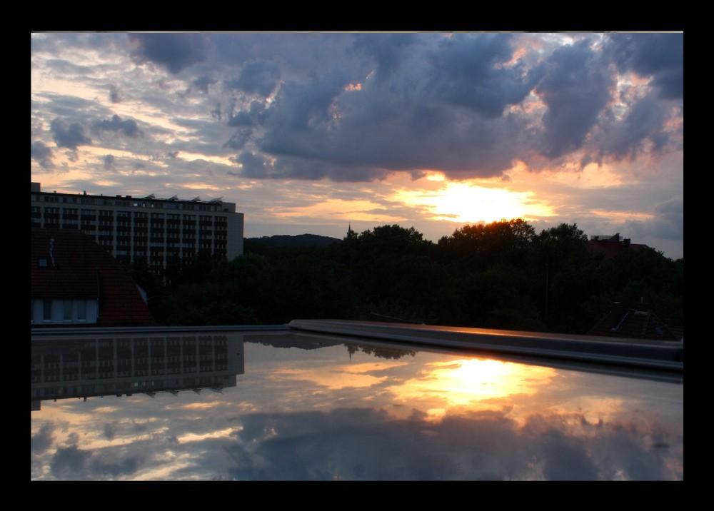 Bielefeld im Spiegel meines Dachfensters