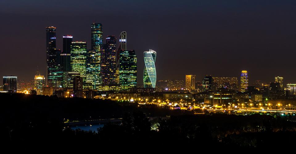 Big City Lights of Moskau