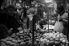 Big crowd at the popular market