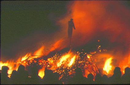 Biikefeuer in List auf Sylt.
