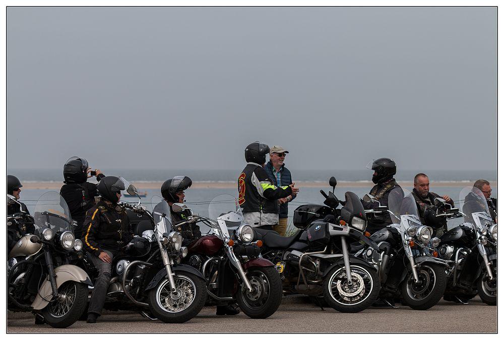 Biker auf Borkum