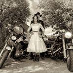 Biker-Hochzeit im Western Styl