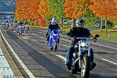 Biker im Herbst - HDR Version