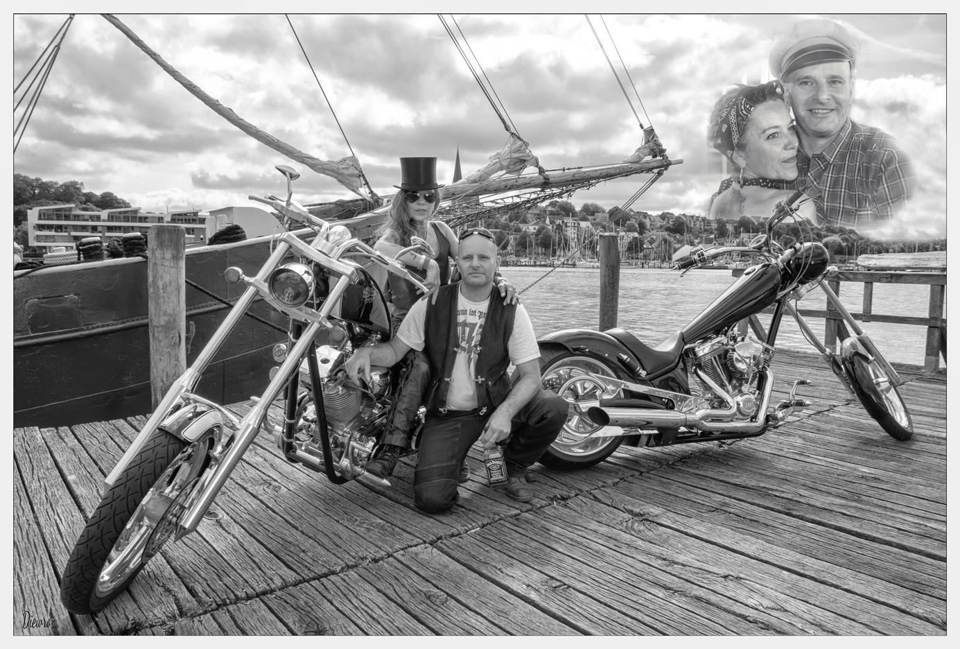 Biker Paar - COLLAGE