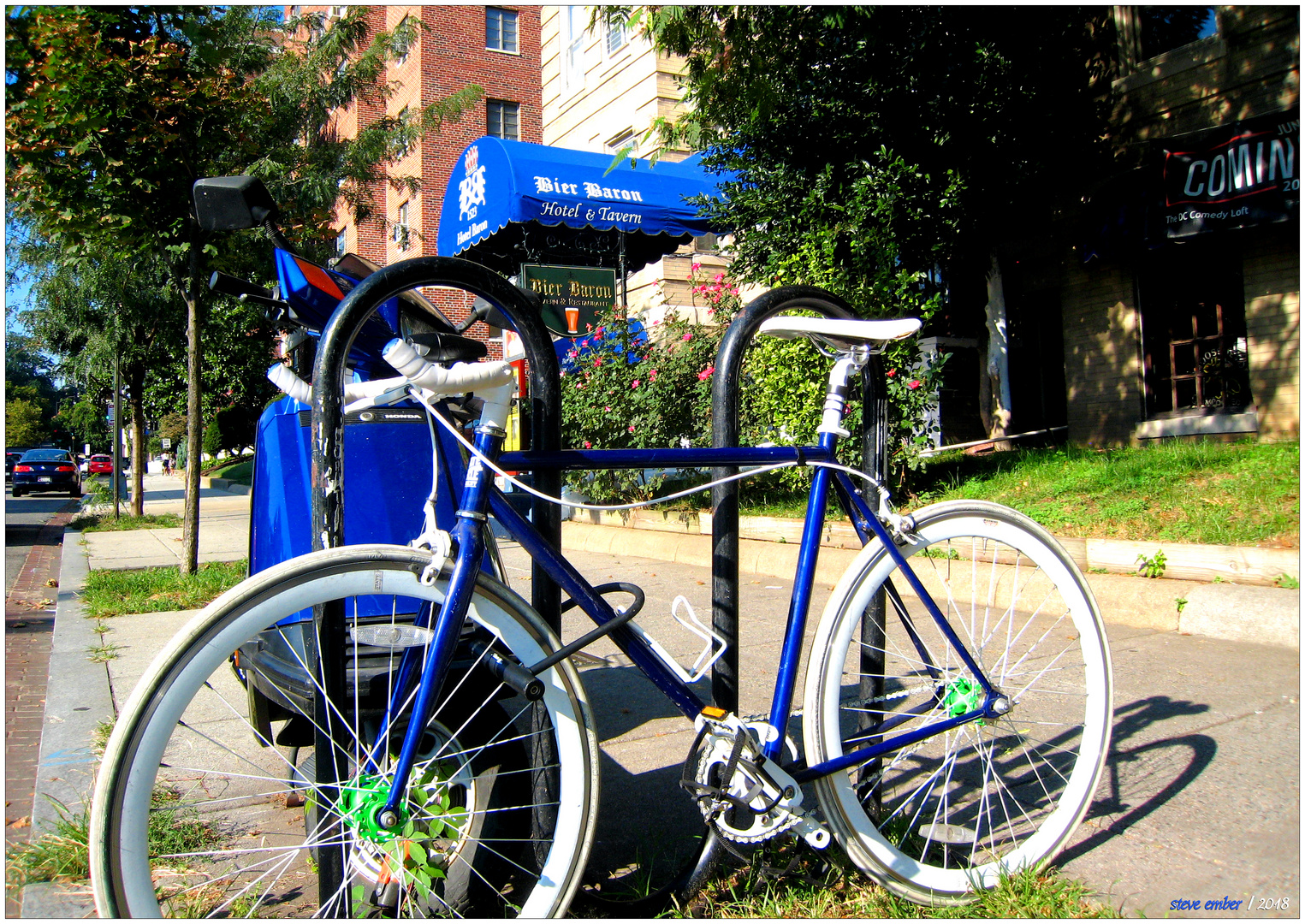 Bikes and Bier Baron - A 'Hoppy' Study in Blue and White
