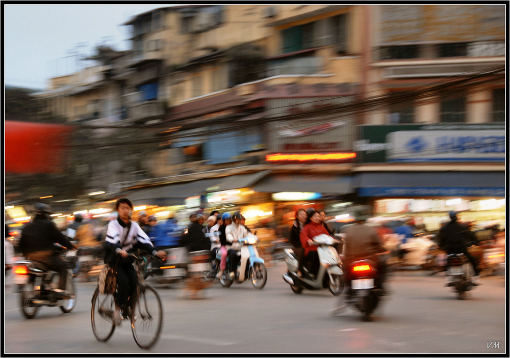 Biking in Hanoi...