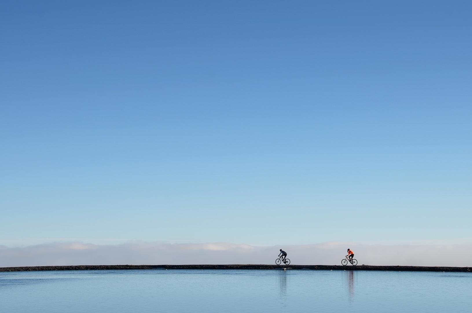 Biking in the sky
