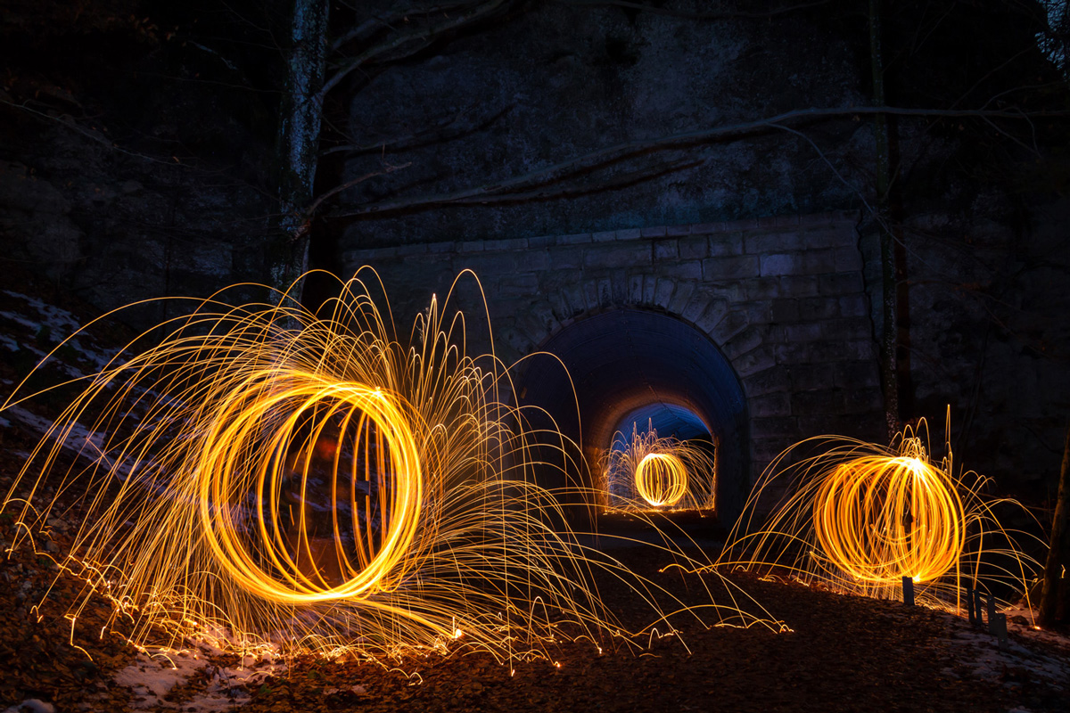 Bild mit Stahlwolle