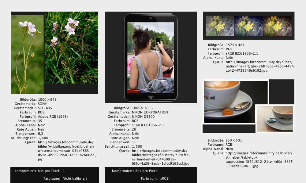 Bildanalyse sRGB – Adobe RGB