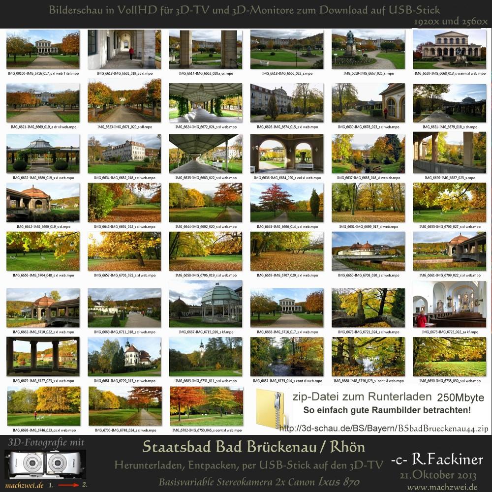 Bilderschau für 3D-TV vom Staatsbad Bad Brückenau