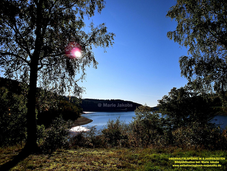 Bildpublikation Obernautalsperre in 4 Jahreszeiten/
