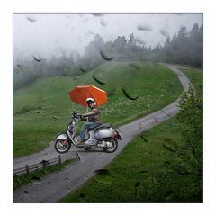 Bin in Lienz, fahr mit Schirm !