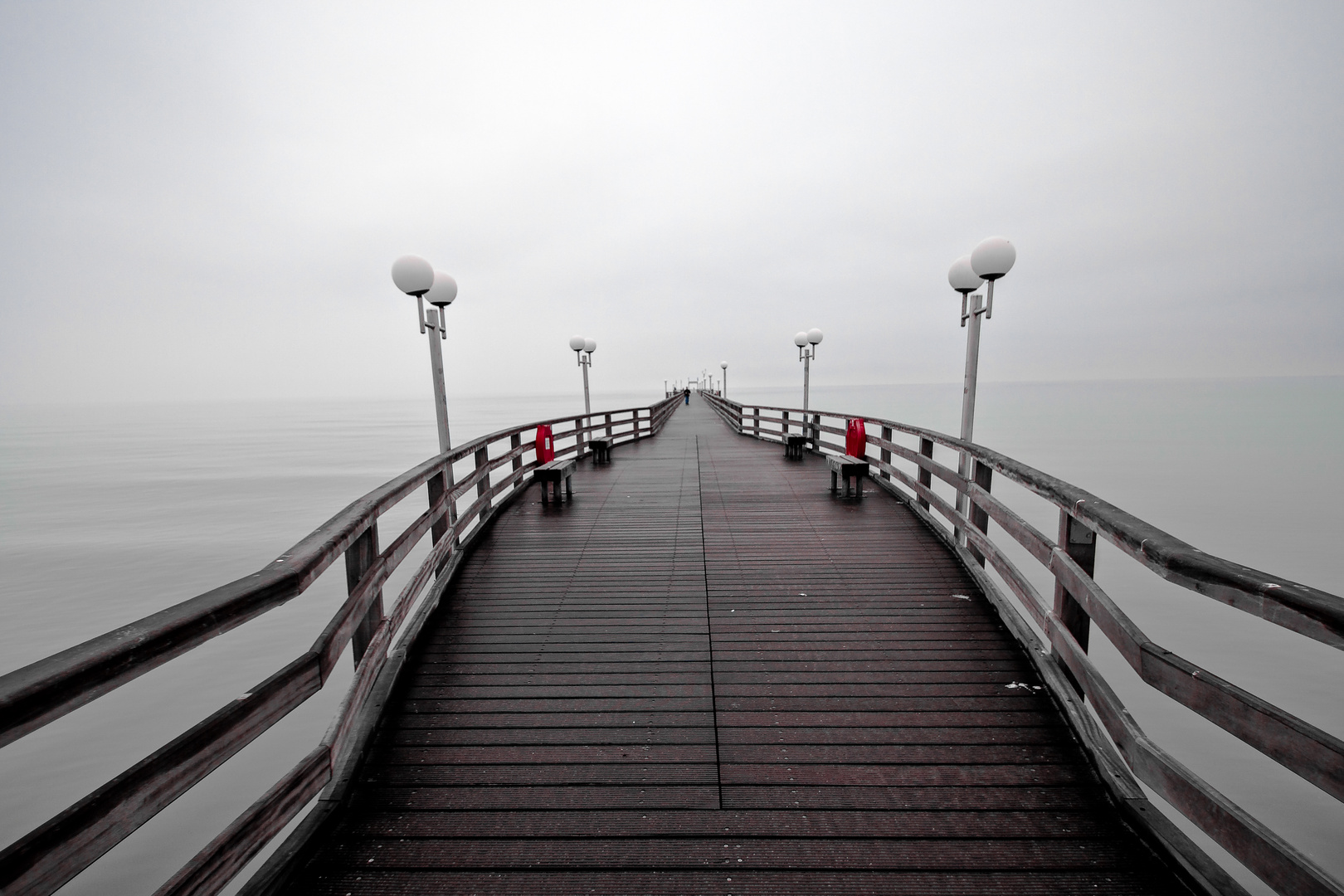 Binzer Seebrücke am Morgen