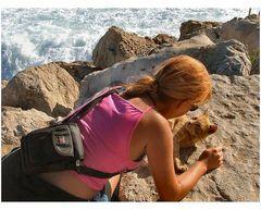 Bionde in conversazione Costa de Caparica Portogallo