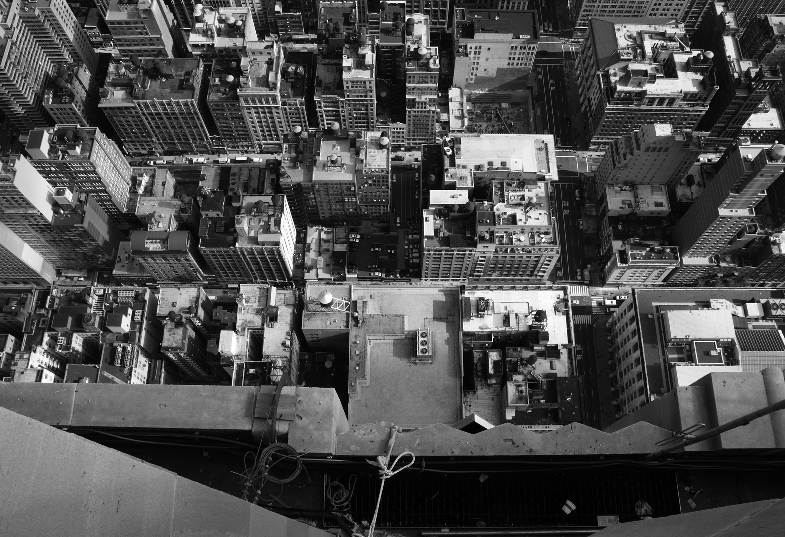 bird's eye view of NYC