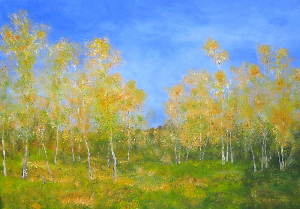 Birken im Herbst