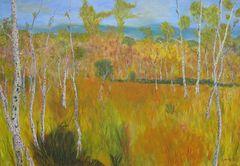 Birkenlandschaft 70 cm x 100 cm