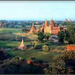 BIRMANIE - 1 -  Bagan ( scan d'argentique )