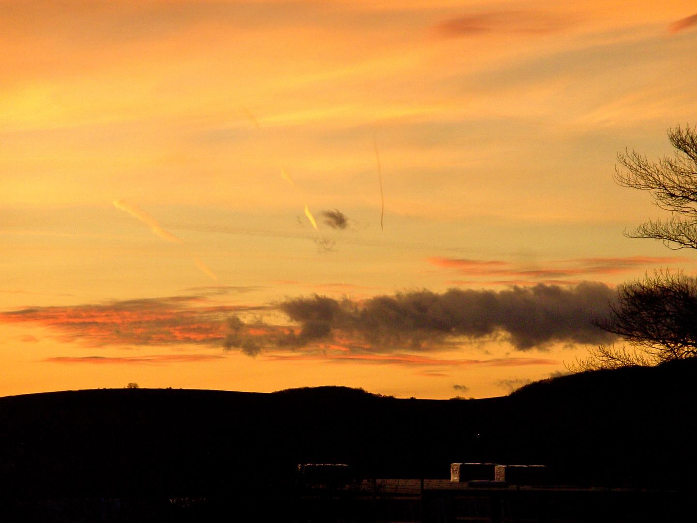 ...bis letzlich Wolken Aquarelle malen!