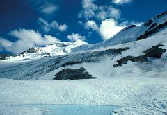 Bischen Bergsteigen am Mount Athabaska