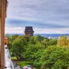Bismarkturm mit Blick über Dresden
