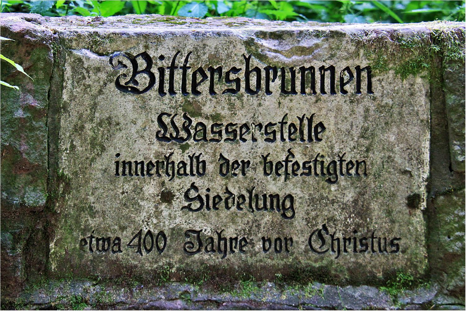 Bittersbrunnen, Wie Dazumal