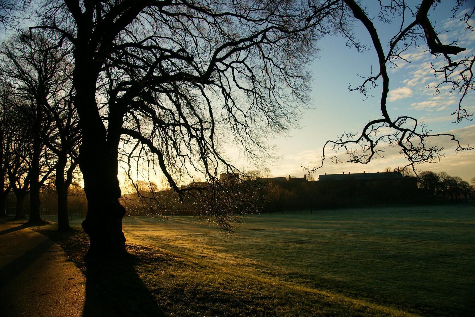 Bitts Park, overlooking Carlisle Castle, Cumbria