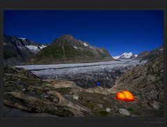 Biwaknacht am Aletschgletscher