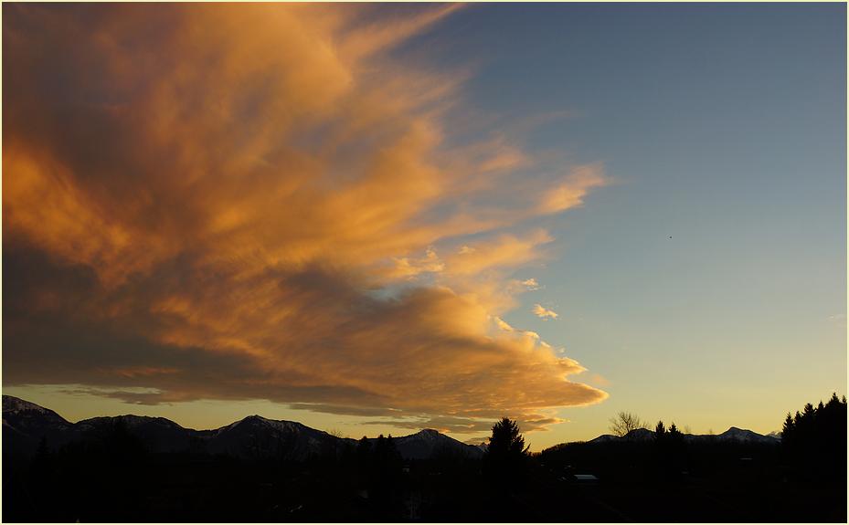 bizarres Wolkenbild am 28.12.2013
