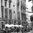 Black and White City of Madrid.