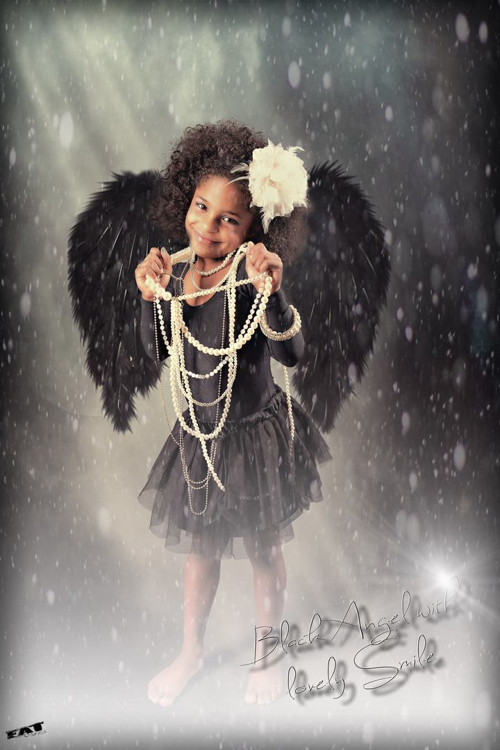 Black Angel with a lovely smile