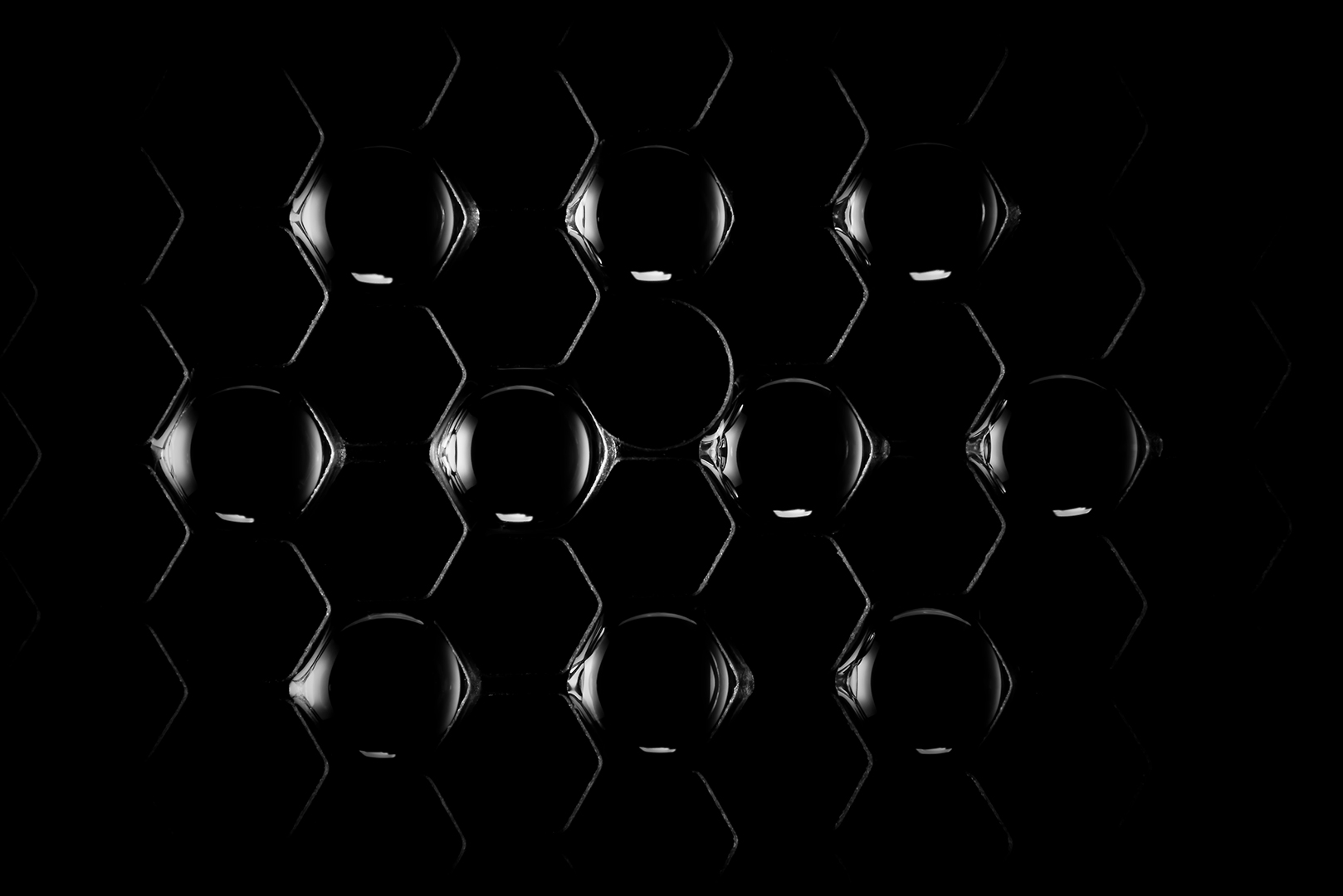 black | beads & holes