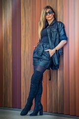 Black dressed Lady