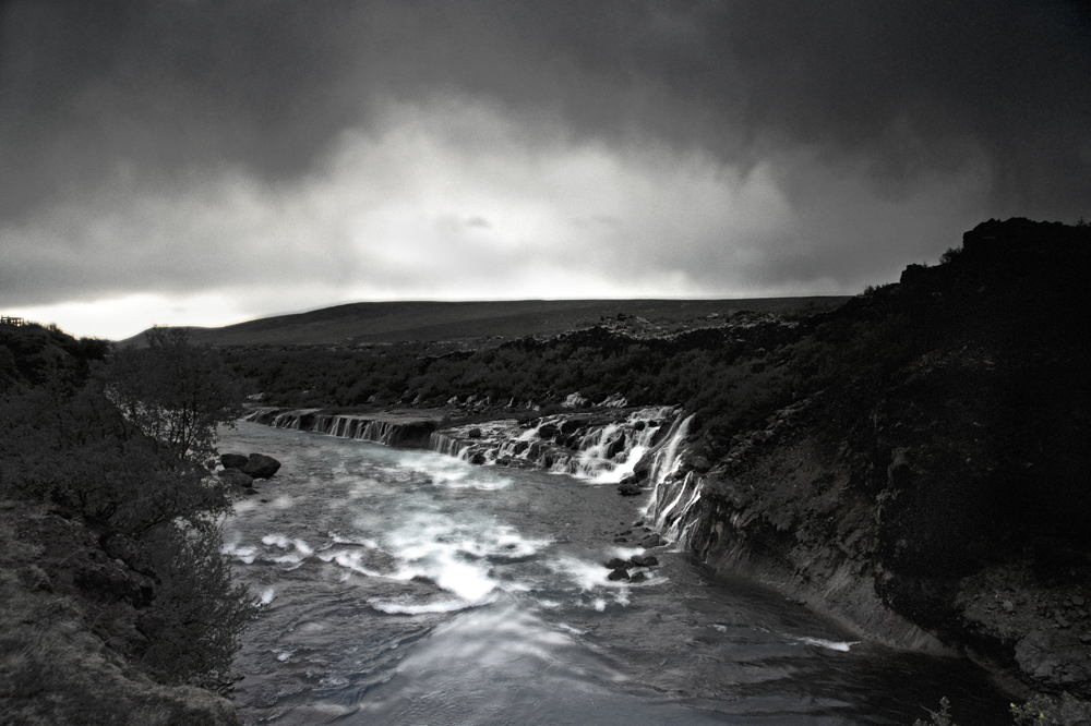 black-white of iceland III