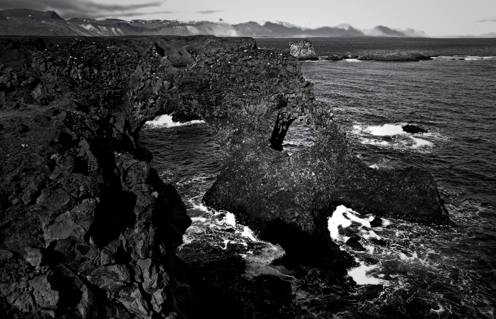black-white of iceland VI