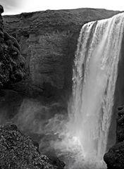 black-white of iceland VII