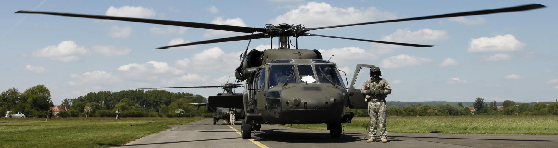 Blackhawk UH-60 in Hassfurt