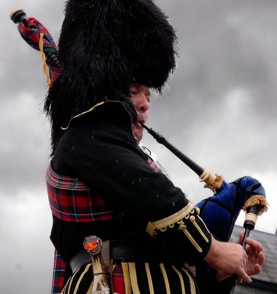 Blair Castle Atholl Highlander Dudelsackspieler II