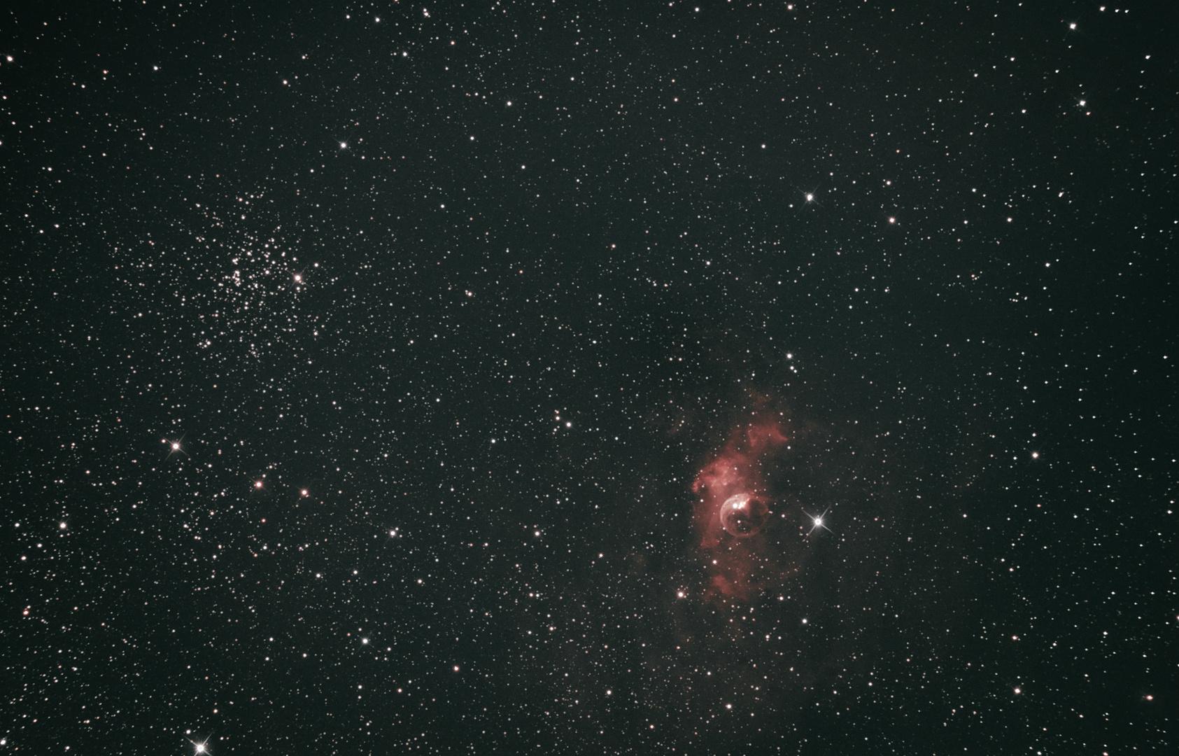 Blasen Nebel und Salz+Pfeffer Sternhaufen
