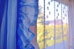 Blau am Fenster
