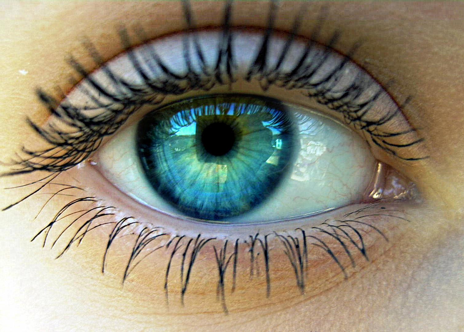 Grün Blaue Augen