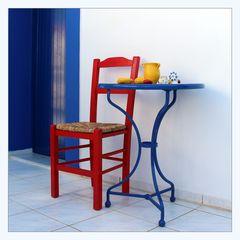 Blau, rot, gelb...