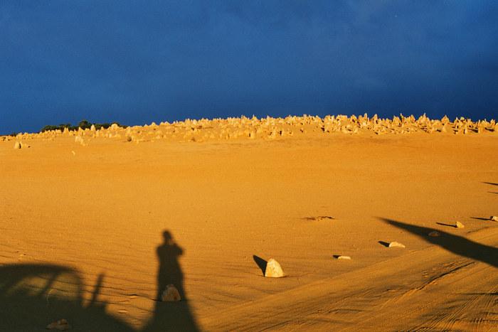 Blau, Sand, Auto und ich