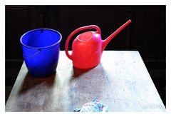 blau und rot - ein Farbspiel