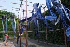 Blaudruck im Wind